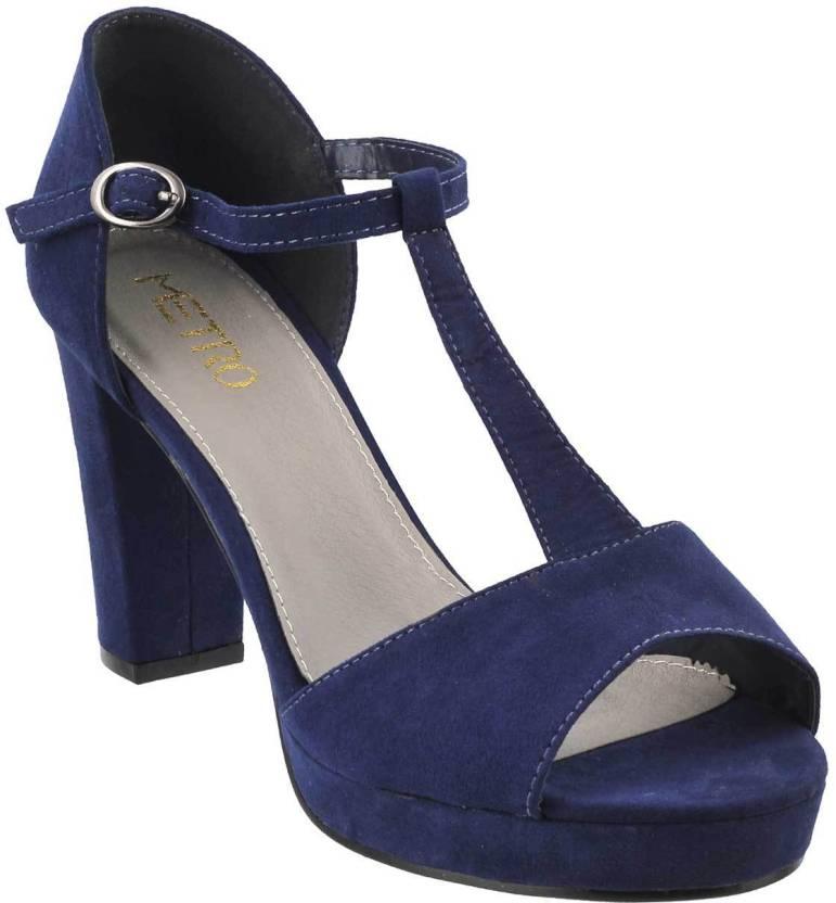 fb51680ce4 Metro Women 17,Blue/Navy Heels - Buy Metro Women 17,Blue/Navy Heels Online  at Best Price - Shop Online for Footwears in India | Flipkart.com