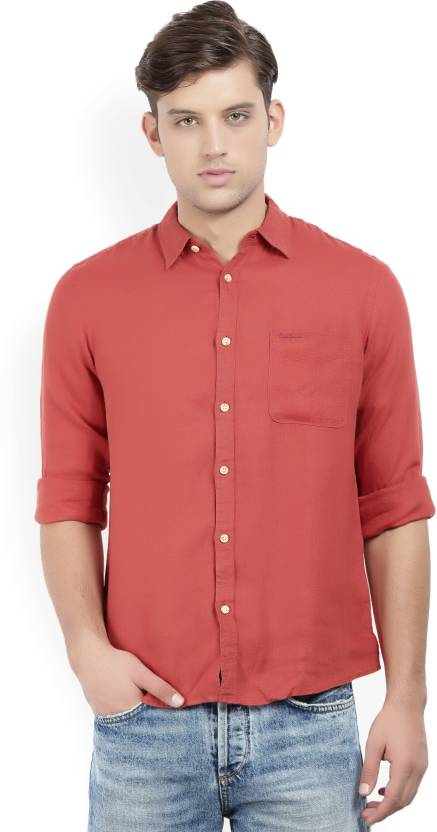 bed91be9fc Pepe Jeans Men s Solid Casual Red Shirt - Buy VIN-RED Pepe Jeans Men s  Solid Casual Red Shirt Online at Best Prices in India