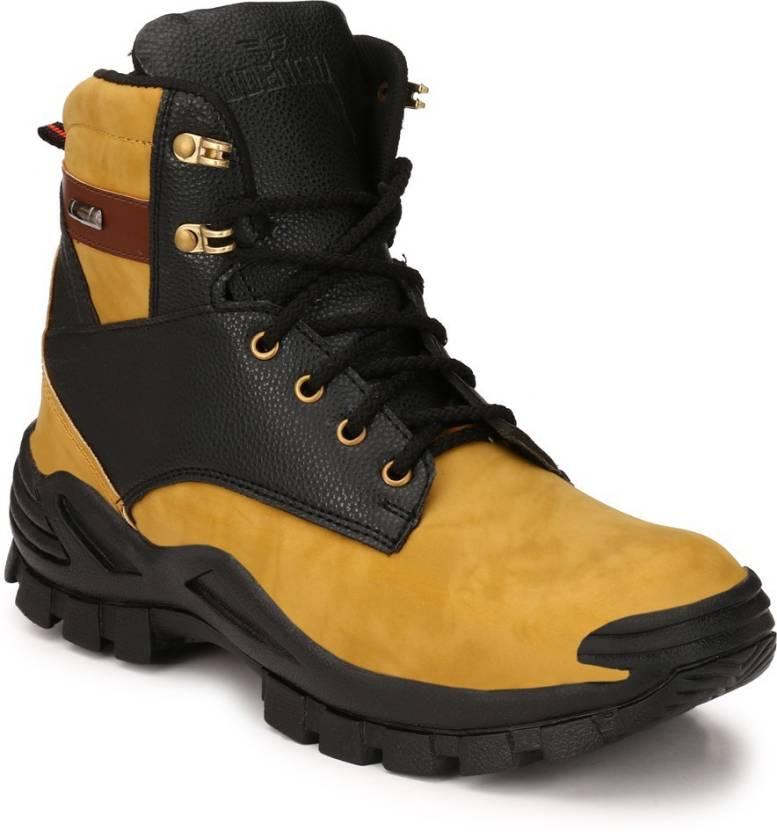 63cf407063a Udenchi UD720BEIGE Steel Toe Safety Boots For Men