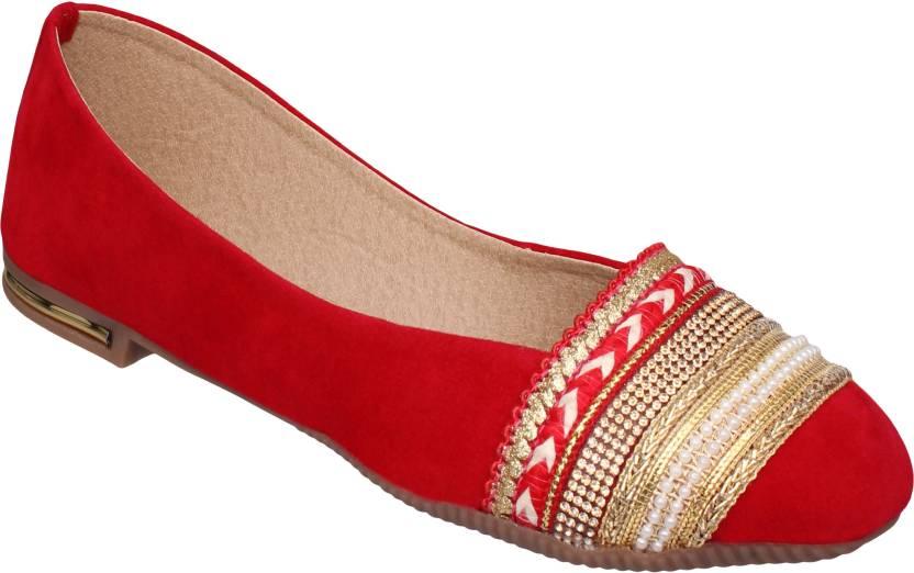 e1b80a14483 Sindhi Footwear AB-B0120 Red Bellies For Women - Buy Sindhi Footwear ...