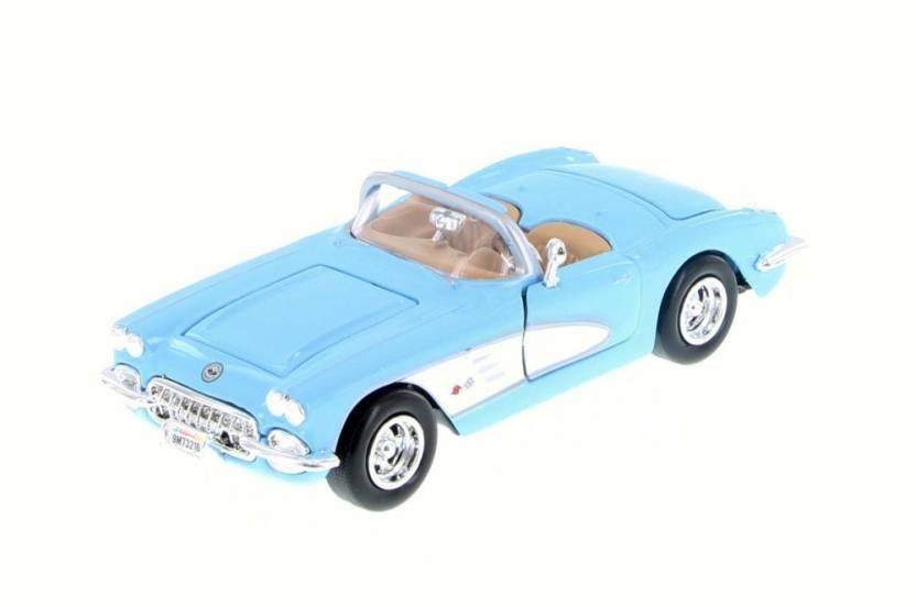 645d7b0015 Motormax 1959 Chevy Corvette Convertible, Light Blue - 73216WB 1/24 ...