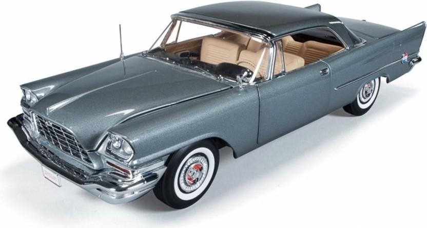 1957 CHRYSLER 300C HARDTOP Authentics  1//18 Auto World GUNMETAL GREY Autoworld