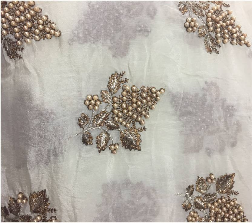 9771e8bd28 Inhika Chiffon Embellished Blouse Material Price in India - Buy ...