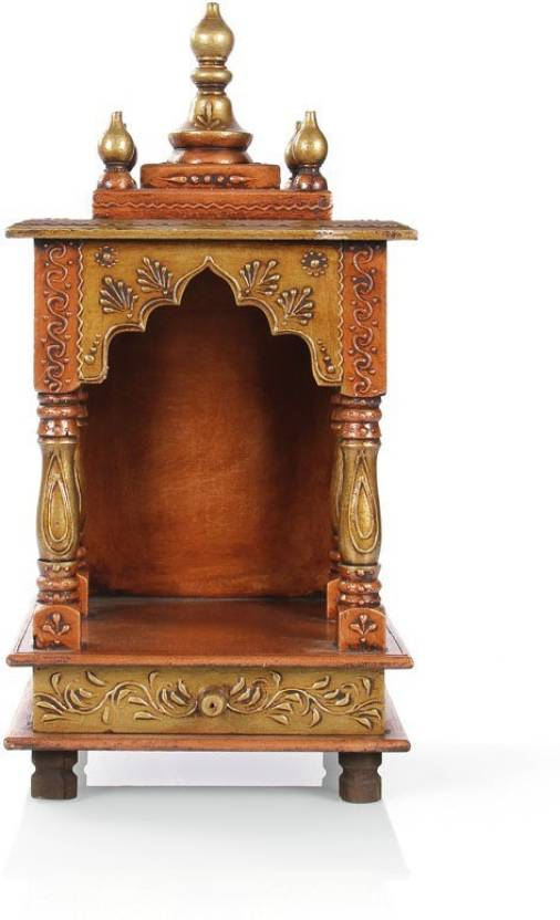 639043572 Marusthalee Puja mandir Puja mandap Solid Wood Home Temple (Height  45 cm)