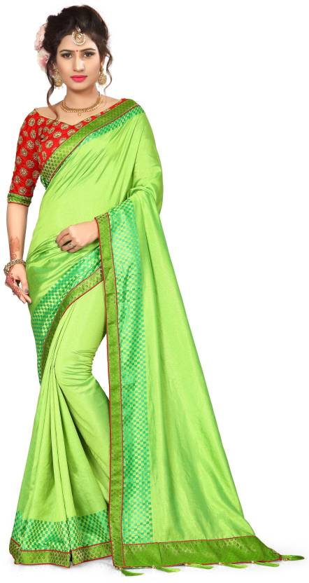 f1089126c17 Vrundavan Ethics Embroidered Bollywood Poly Silk Saree