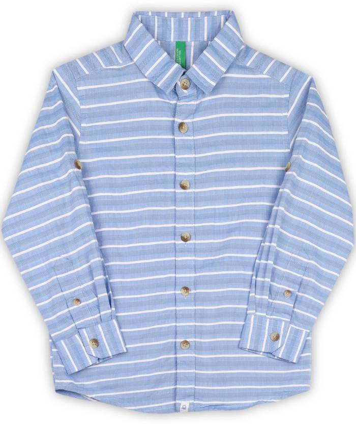 ef3040a03193 United Colors of Benetton Baby Boys Striped Casual Shirt - Buy Blue ...