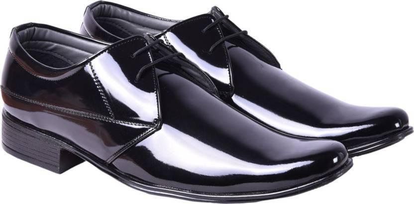 De Loyon Black Shining AS Formal Partywear Shoes Derby For Men - Buy ...