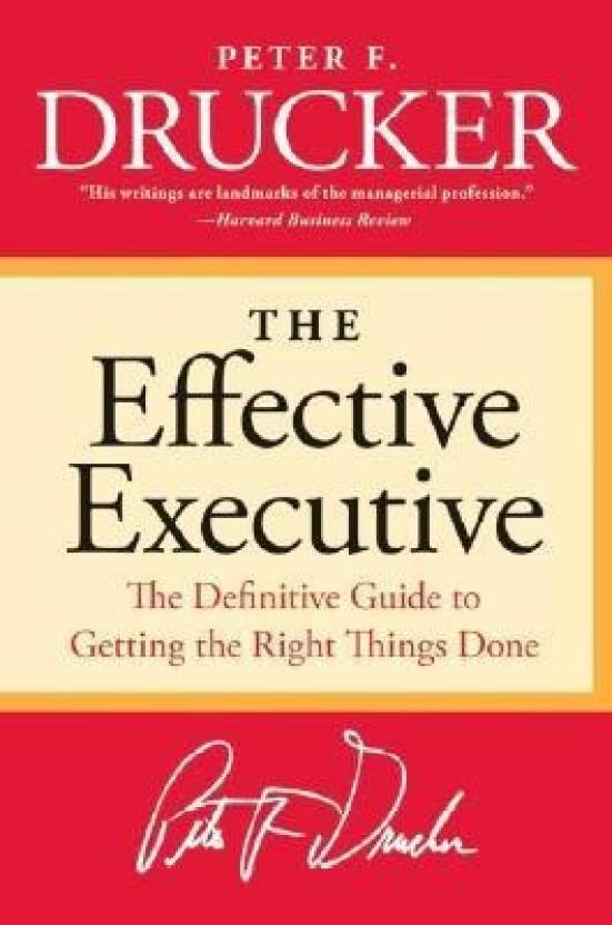 The Effective Executive Buy The Effective Executive By Drucker