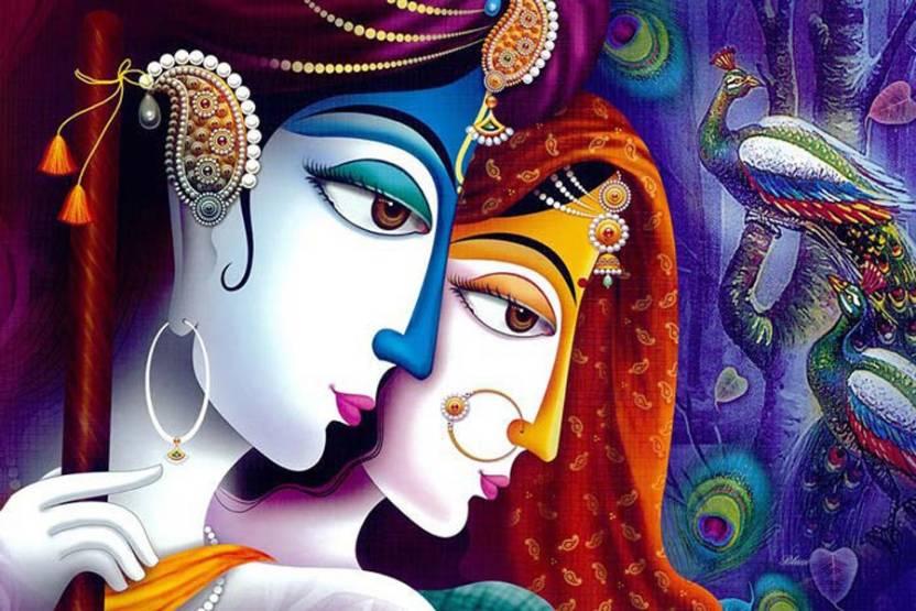 Radha Krishna Art / Wall Decor / Home Decor / Size 26