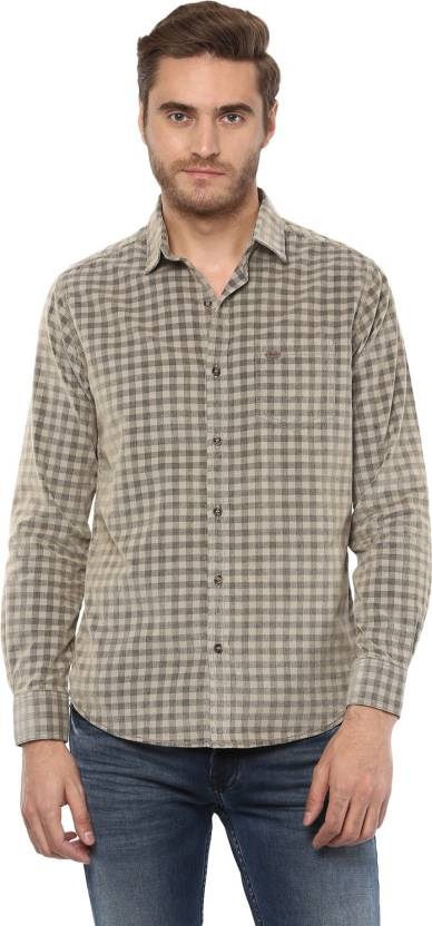 42c14b7a4e7 Mufti Men s Checkered Casual Beige Shirt - Buy Mufti Men s Checkered Casual  Beige Shirt Online at Best Prices in India