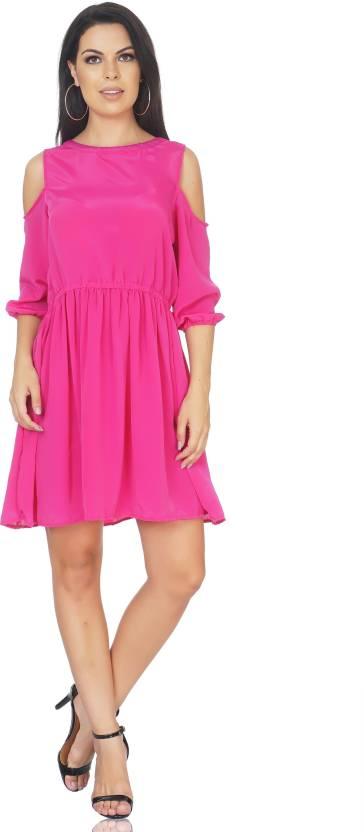 1159c97a1 CAMILLA MAX Women s A-line Pink Dress - Buy CAMILLA MAX Women s A ...