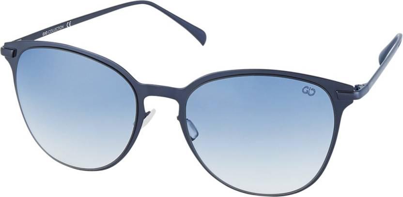 1585de690f Buy Gio Collection Wayfarer Sunglasses Blue For Men Online   Best ...