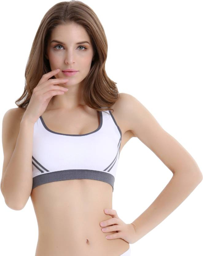 4eee14465e8d2 Secret Wear Women s Sports Bra - Buy White Secret Wear Women s ...