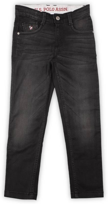540d17ad US Polo Kids Slim Boys Black Jeans