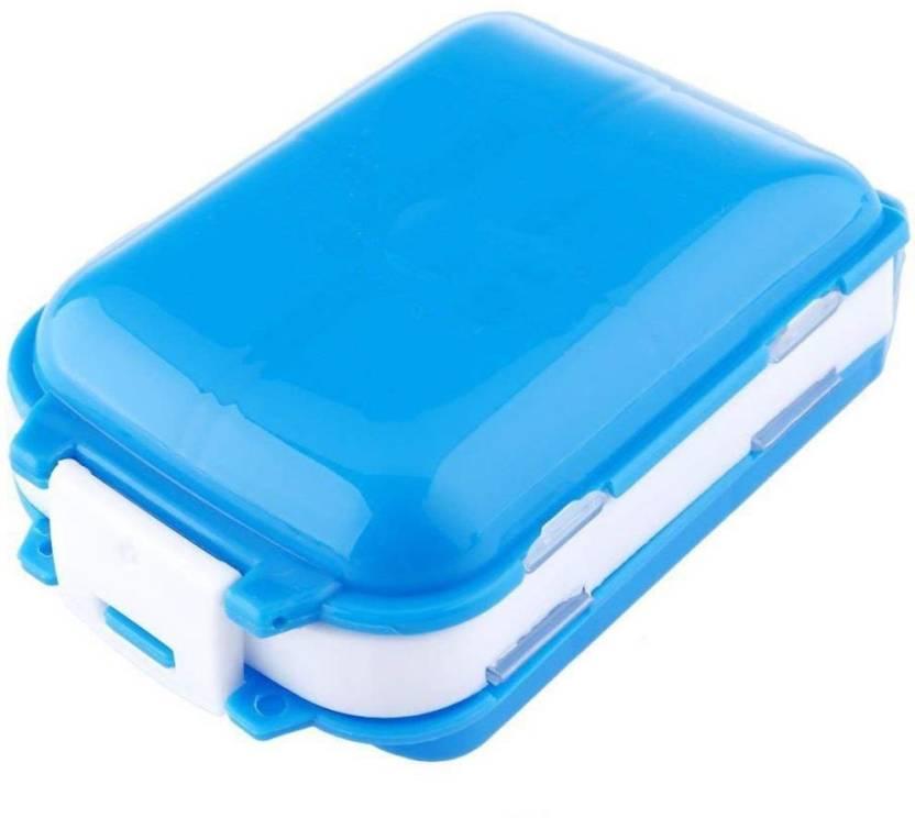 Lemish 8 Travel 8 Compartment Pill Box Medicine Tablet Holder Organizer Pill Box Multicolor