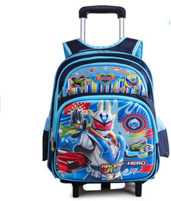 """Mickey Mouse Club House Blue 16/"""" Back to School Durable Rolling Backpack Bag!"""