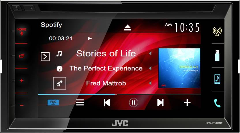 f0d3e2645 JVC KW-V340BT Car Stereo Price in India - Buy JVC KW-V340BT Car ...