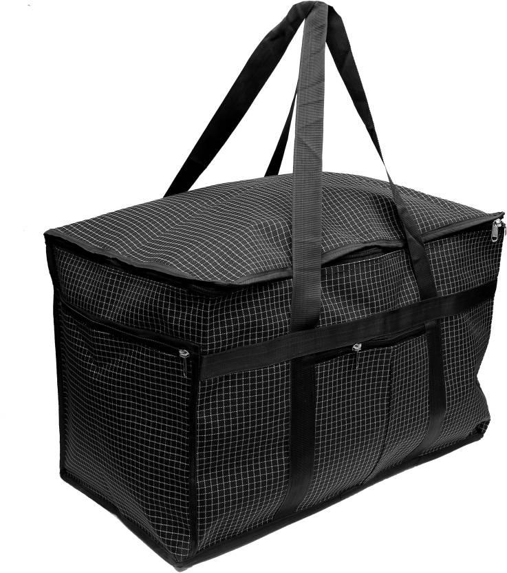 DIVYANA 80 Liters Foldable Water Resistant Extra Large Travel Duffle Bag  Luggage  Bag  Storage Bag  Home Organizer Bag Travel Duffel Bag (Black) 97884c60b4392