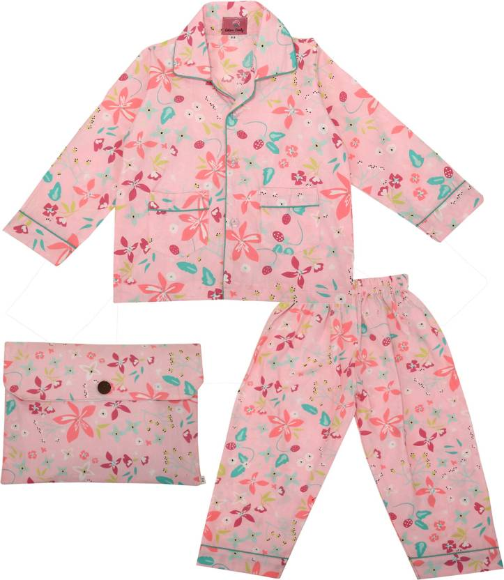 2a2ba93ef Cotton Candy Kids Nightwear Boys & Girls Floral Print Cotton (Pink Pack of  1)