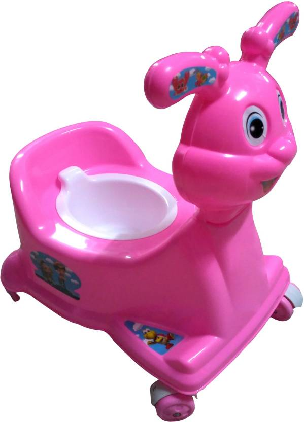 d89b00101b ATXP High Quality Baby 3 in 1 Rabbit Potty seat with Walking   Sitting  Chair Pink Potty Seat (Pink)