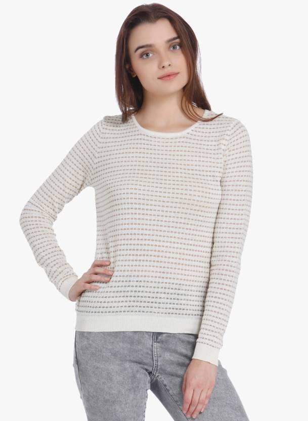 new styles 687a8 be52d Vero Moda Round Neck Self Design Women Pullover - Buy Vero ...