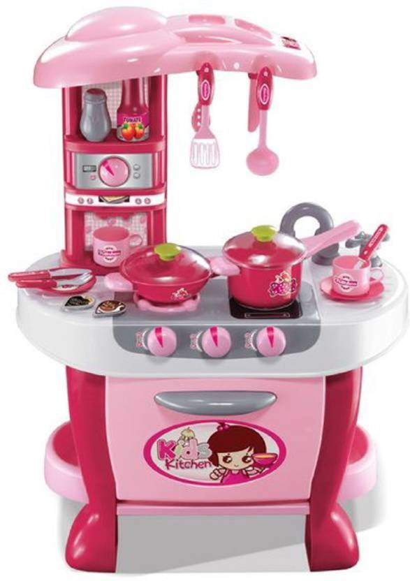 Crazy Toys Maruti Little Chef Kids Kitchen Set Play With Light Sound Size 70