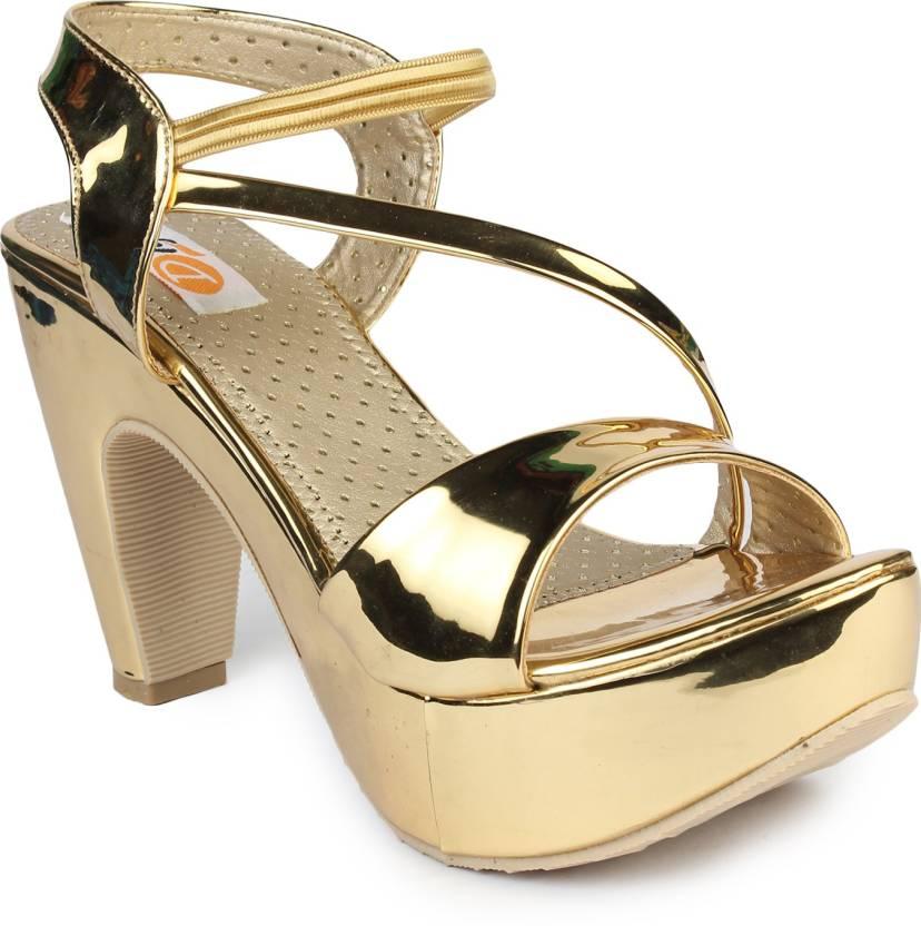 6ae488d18b Digni Women Golden Heels - Buy Digni Women Golden Heels Online at Best Price  - Shop Online for Footwears in India | Flipkart.com