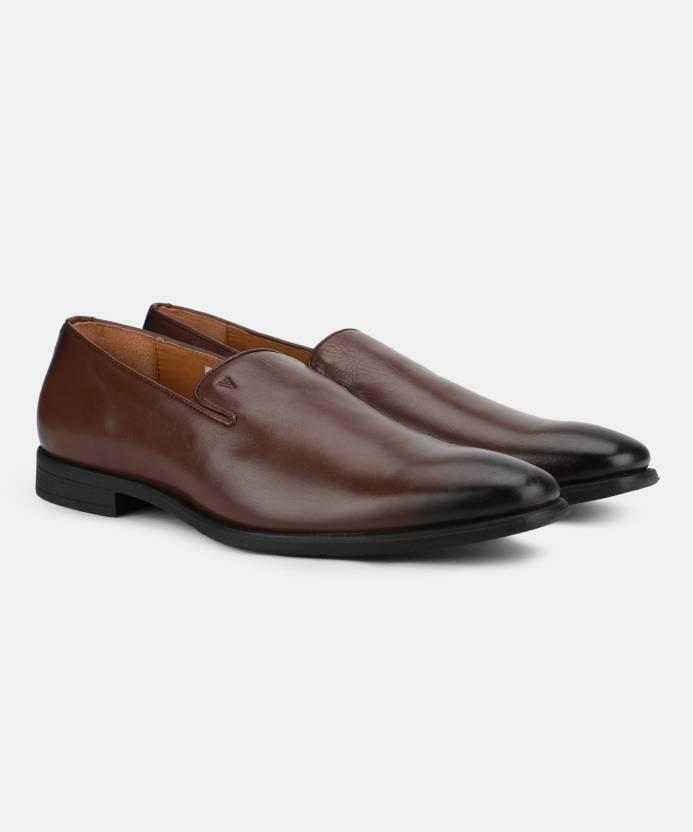 76e434bade8 Van Heusen Slip-On For Men - Buy BROWN Color Van Heusen Slip-On For ...