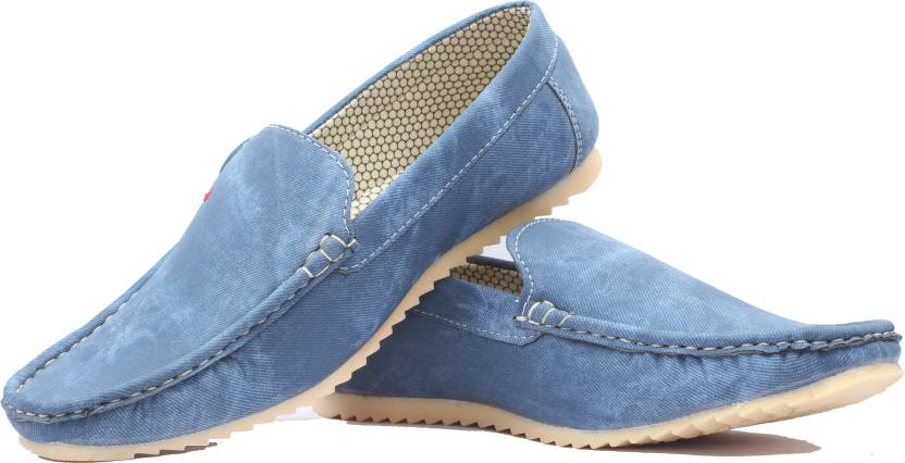 ea31a5eefea Deals4you Synthetic Leather Casual Partywear Loafers Shoes For Mens And  Boys Loafers For Men (Blue)