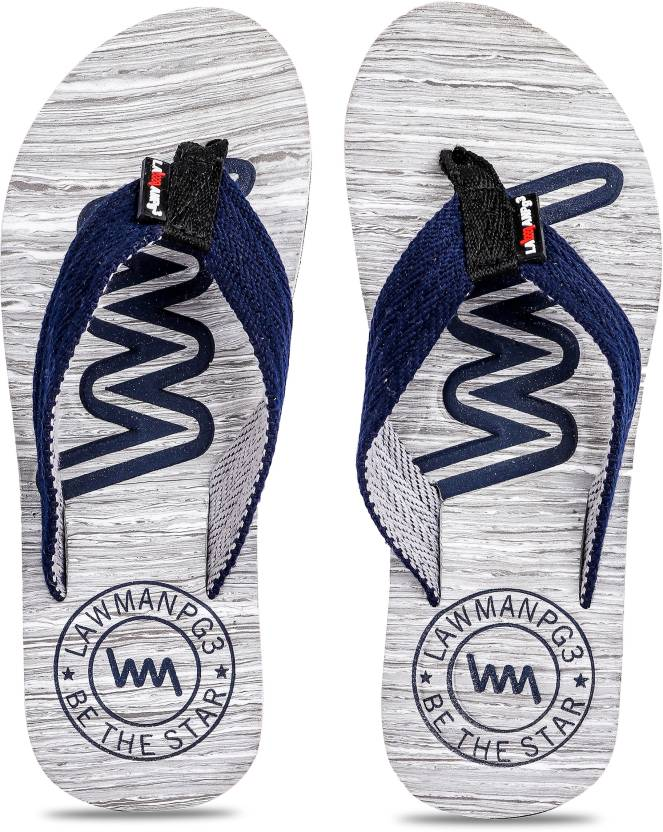 2b34d89649e1 LAWMAN PG3 Flip Flops - Buy Blue Color LAWMAN PG3 Flip Flops Online at Best  Price - Shop Online for Footwears in India