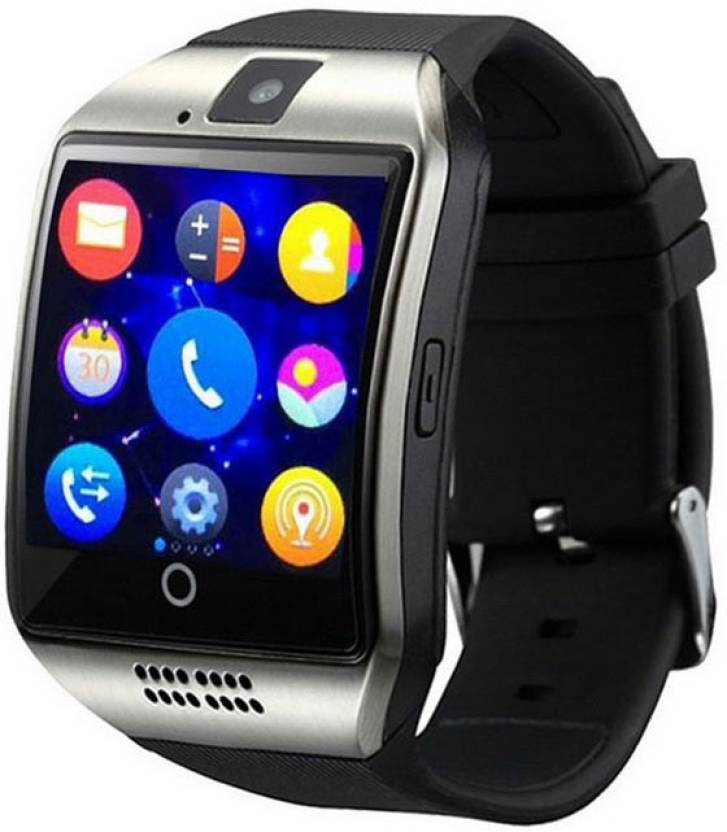 33b95f76dd2 SHYLOC Q18 Plus 3G Android Wi-Fi Bluetooth Smart Watch - Silver Smartwatch  (Black Strap Free Size)