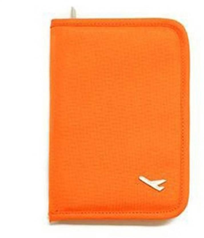 71b39722de02 House of Quirk Document Holder Travel Passport Wallet Holder Orange ...