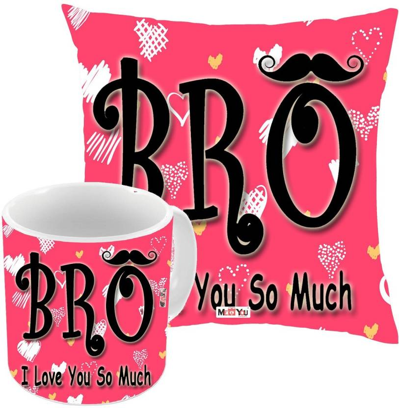 MEYOU Rakhi Gifts For Brother Rakshabandhan Birthday Anniversary IZ18NPKCM B 191 Cushion Mug Gift Set Price
