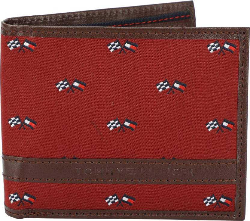 be4b0d34cae Tommy Hilfiger Men Red Genuine Leather Wallet Wine - Price in India ...