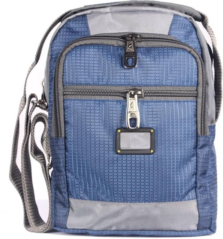 f21dd6604011 HANDCUFFS Stylish Side Sling Bag Shoulder Bag Messenger Bag For Men s  Gents-  Blue 6 L Backpack (Grey)
