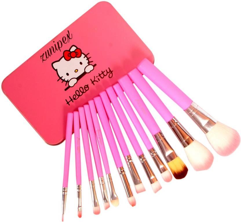 c0369bd4b zunipex hello kitty 12pcs makeup brush set - Price in India, Buy ...