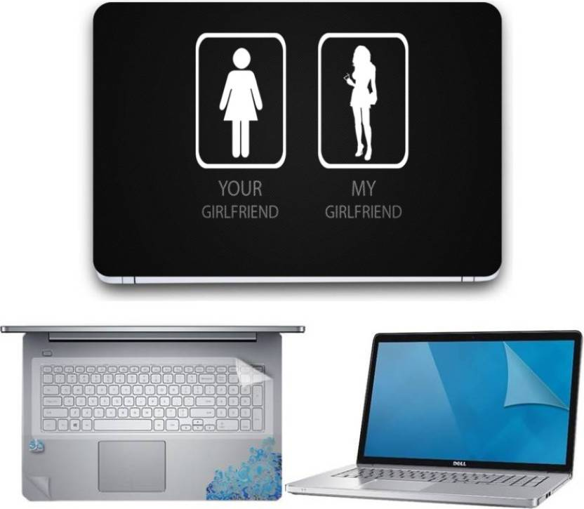 Gallery 83 Girl Friend Wallpaper Laptop Decal 3 In 1 Combo