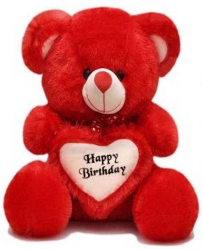 01eec2d9d3b BakeBihari Enterprises 2 Feet Sitting Soft Cute Teddy Bear For Happy  Birthday Gift - 60.809999999999995 cm (Red)