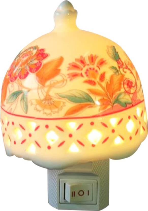 Wishpool Led Ceramic Baby Night Energy Saving Lamp Electric Plug Wall Lighting
