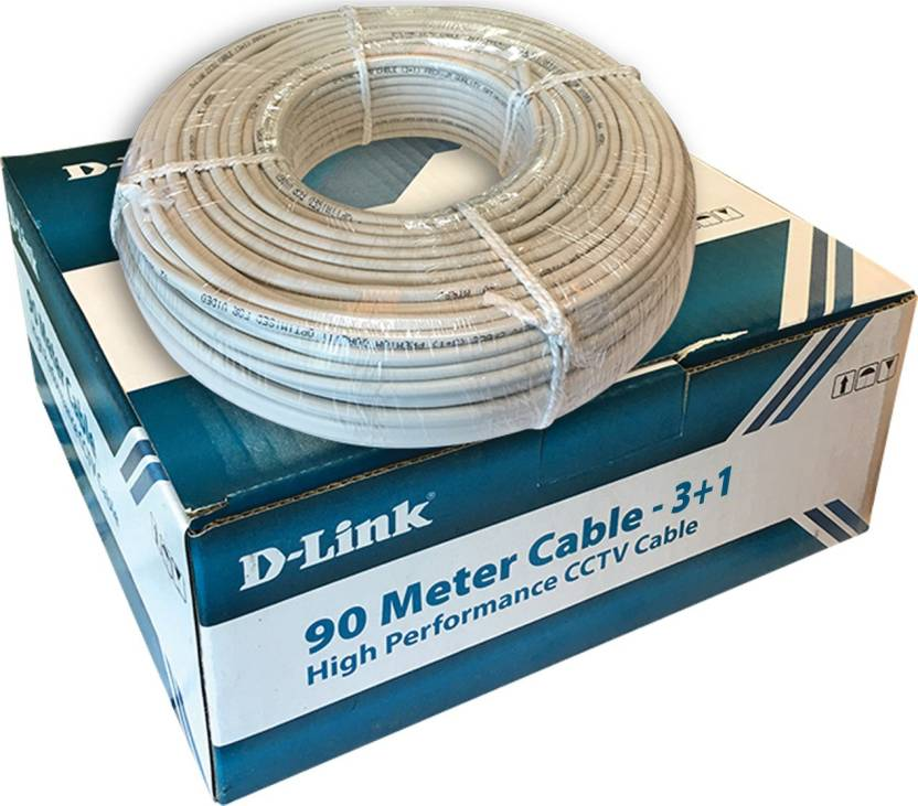 D-Link DCC-WHI-90 D-Link CCTV Wire - 100% Pure Copper Coaxial Cable ...