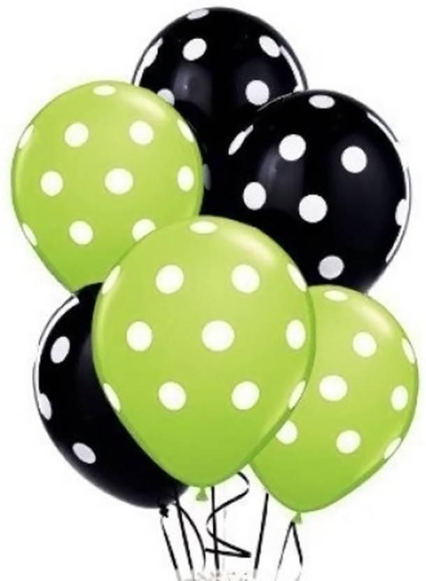 Flipkart Com Rkandroid Solid 12 Inch Green Black Polka Dots