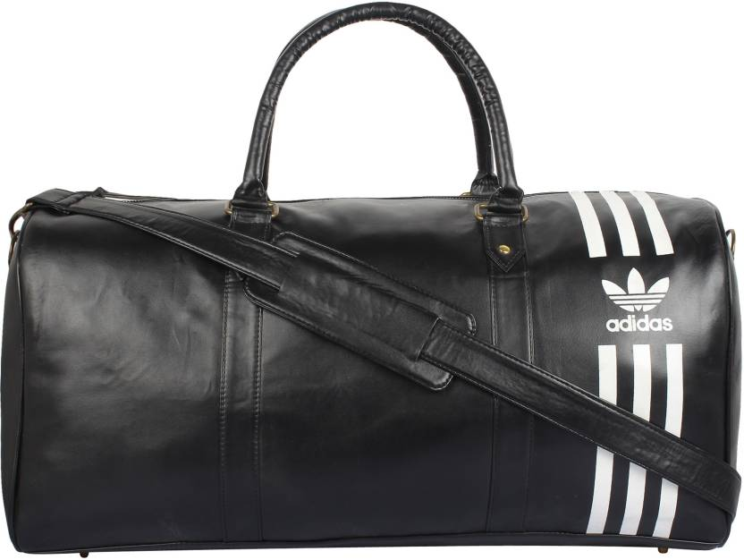 ADIDAS Black Duffle bag Travel Duffel Bag Black - Price in India ... 66d7373f6f686