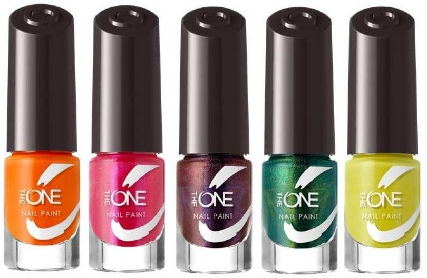 Oriflame Sweden The One Nail Paint Set Of 5 Fresh Lime Papaya Punch
