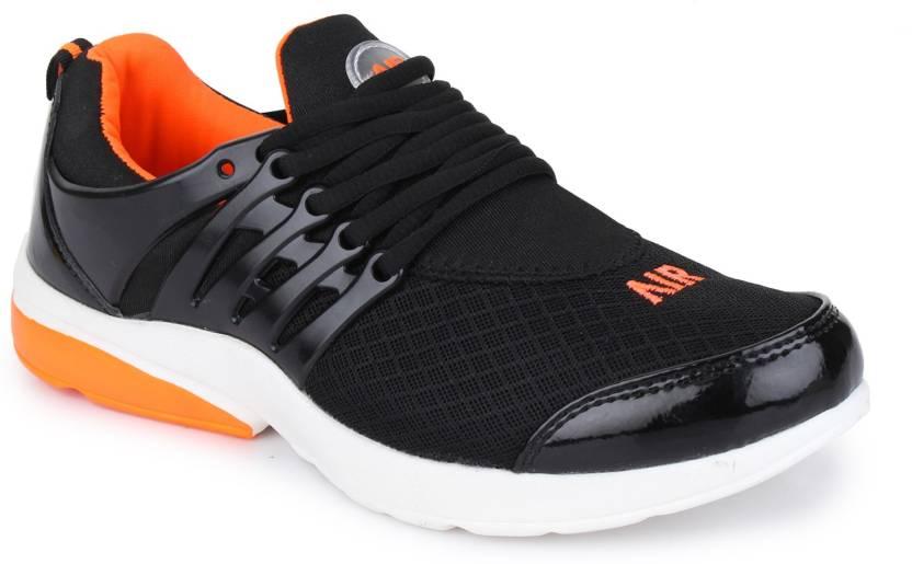 267617f41b1e4 Air Lifestyle Sports Shoes Running For Men Black Orange