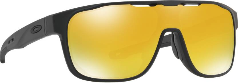 eba2ad0930d Buy Oakley CROSSRANGE SHIELD Shield Sunglass Orange For Men Online ...