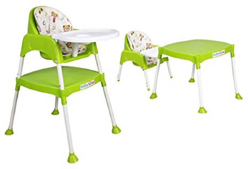 N M 3 In 1 Convertible Baby High Chair With Cushion Green Buy Baby