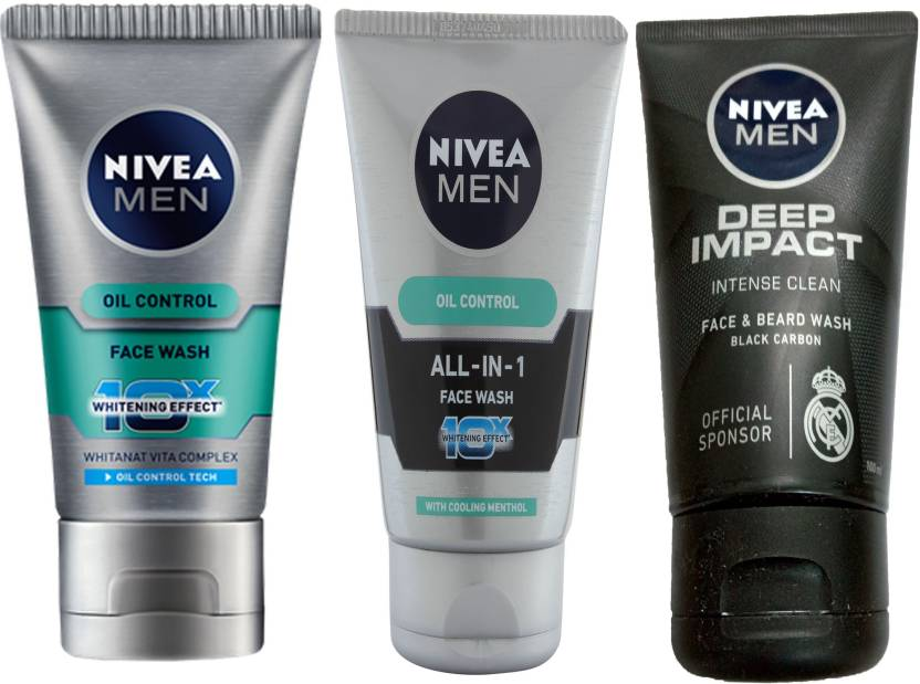 Nivea MEN DEEP IMPACT INTENCE CLEAN BLACK CARBON FACE & BEARD WASH