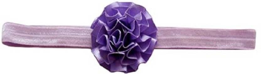 4b91e567e53d63 Ziory Purple 3Pcs Set Kids Foot Flower and Headband Hair Flower Bands  Newborn Flower Hair Accessories ...