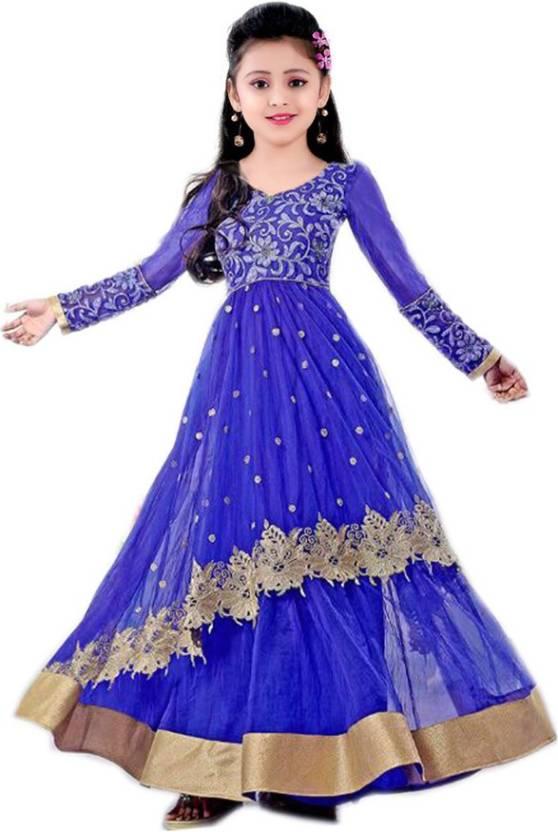 d988e5c0e09 MF Retail Girls Maxi Full Length Casual Dress (Blue
