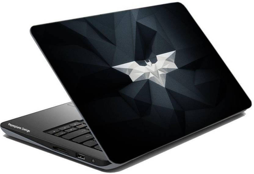 Paper Plane Design Batman Logo Laptop Skin Laptop Skin Cover For